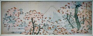 Katsushika Hokusai - Mount Fuji with Cherry Trees in Bloom