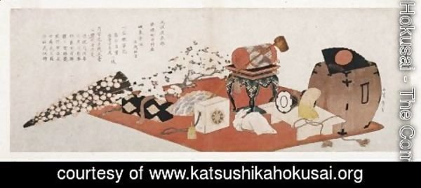 Katsushika Hokusai - Stage Properties for a Farewell Performance