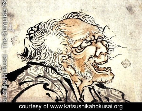 Katsushika Hokusai - Head of an Old Man