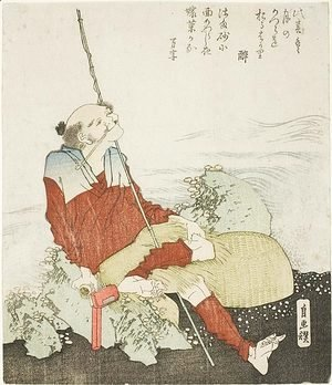 Katsushika Hokusai - Self-Portrait as a Fisherman