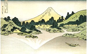 Katsushika Hokusai - Mount Fuji Reflected on Water at Misaka in Kai Province