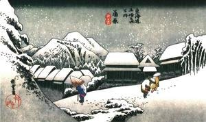 Katsushika Hokusai - Winter Evening in Japan