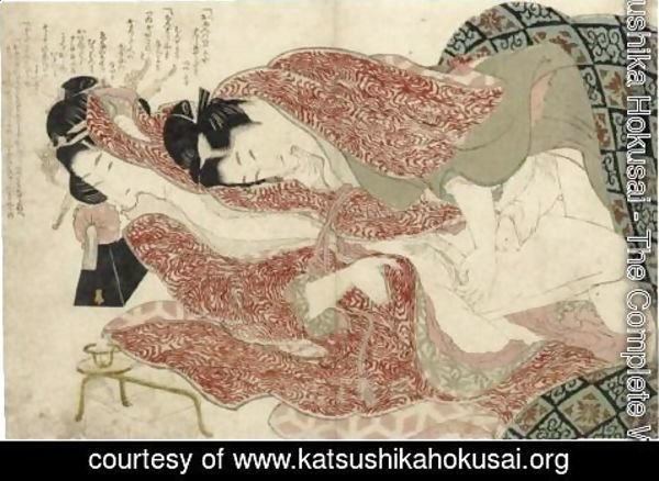 Katsushika Hokusai - 'Ehon Tsuhi No Hinagata' By Hokusai And One Sheet From The Series 'Negai No Itoguchi'