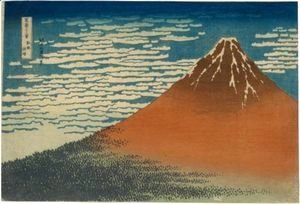Katsushika Hokusai - 'Gaifu Kaisei' (Fine Wind, Clear Weather), Also Known As 'Aka Fuji' (Red Fuji)