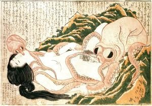 Katsushika Hokusai - Dream of the Fisherman's Wife