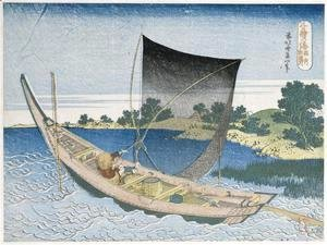 Katsushika Hokusai - The river Tone in the Province of Kazusa