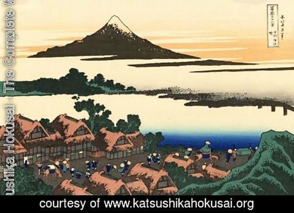 Katsushika Hokusai - Dawn at Isawa in the Kai province