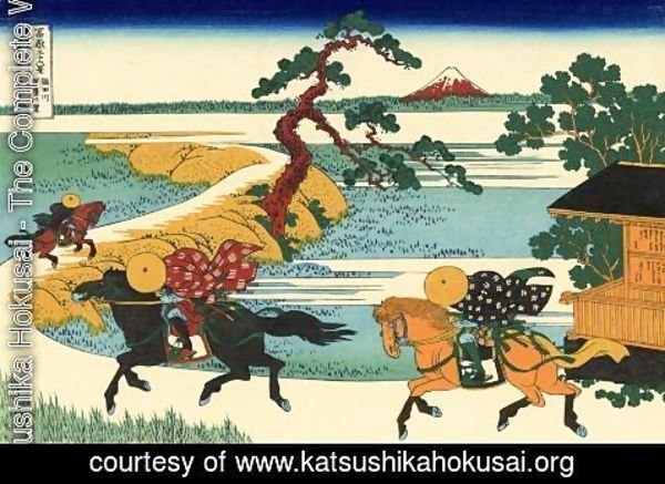 Katsushika Hokusai - The Fields of Sekiya by the Sumida River