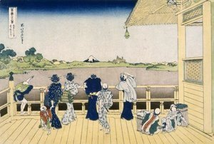 Katsushika Hokusai - Fuji from the Platform of Sasayedo