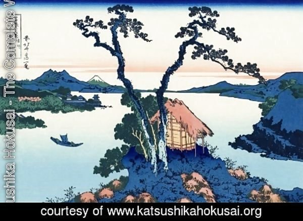 Katsushika Hokusai - Lake Suwa in the Shinano province