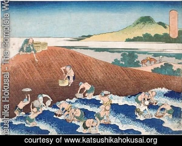 Katsushika Hokusai - Fishing in the River Kinu