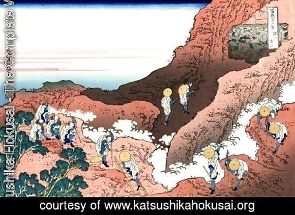 Katsushika Hokusai - The Complete Works - Climbing on Mt. Fuji - katsushikahokusai.org