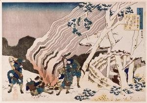 Katsushika Hokusai - The fire fighters in the mountains