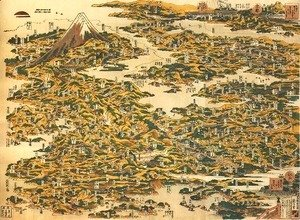 Katsushika Hokusai - Famous Places on the Tokaido Road in One View (Tokaido meisho ichiran)