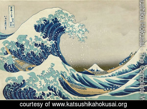 Katsushika Hokusai - The Complete Works - Mount Fuji Seen Below a Wave at Kanagawa - katsushikahokusai.org