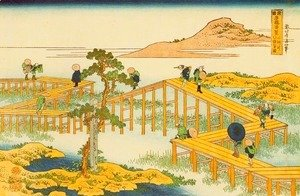 Ancient View of Yatsuhashi in Mikawa Province (Mikawa no Yatsuhashi no kozu)
