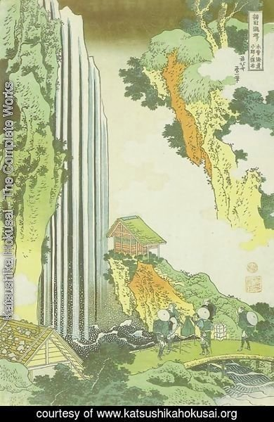 Katsushika Hokusai - Ono Waterfall on the Kisokaido Road (Kisokaido Ono no bakufu)